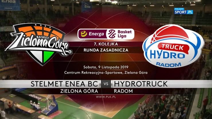 Stelmet Enea BC Zielona Góra - HydroTruck Radom 106:83. Skrót meczu
