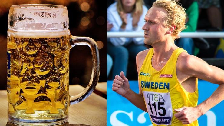 Litrami pije piwo, bo chce zostać mistrzem olimpijskim. Dostaje je za darmo