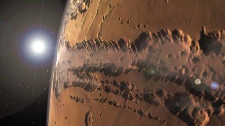 Zapierająca dech podróż po Marsie z perspektywy lotu ptaka [FILM]