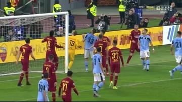 Kuriozalny gol w meczu AS Roma - Lazio [ELEVEN SPORTS]