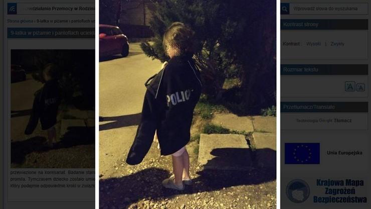 9-latka uciekła z domu w piżamie. Bo rodzice się kłócili