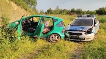 Pijany 22-latek uciekał policjantom i celowo uszkodził radiowóz