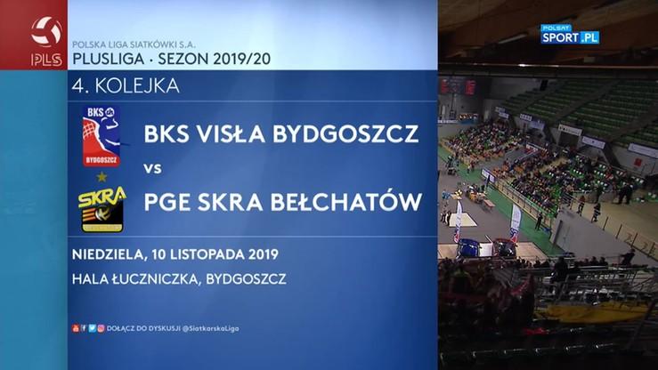BKS Visła Bydgoszcz – PGE Skra Bełchatów 0:3. Skrót meczu