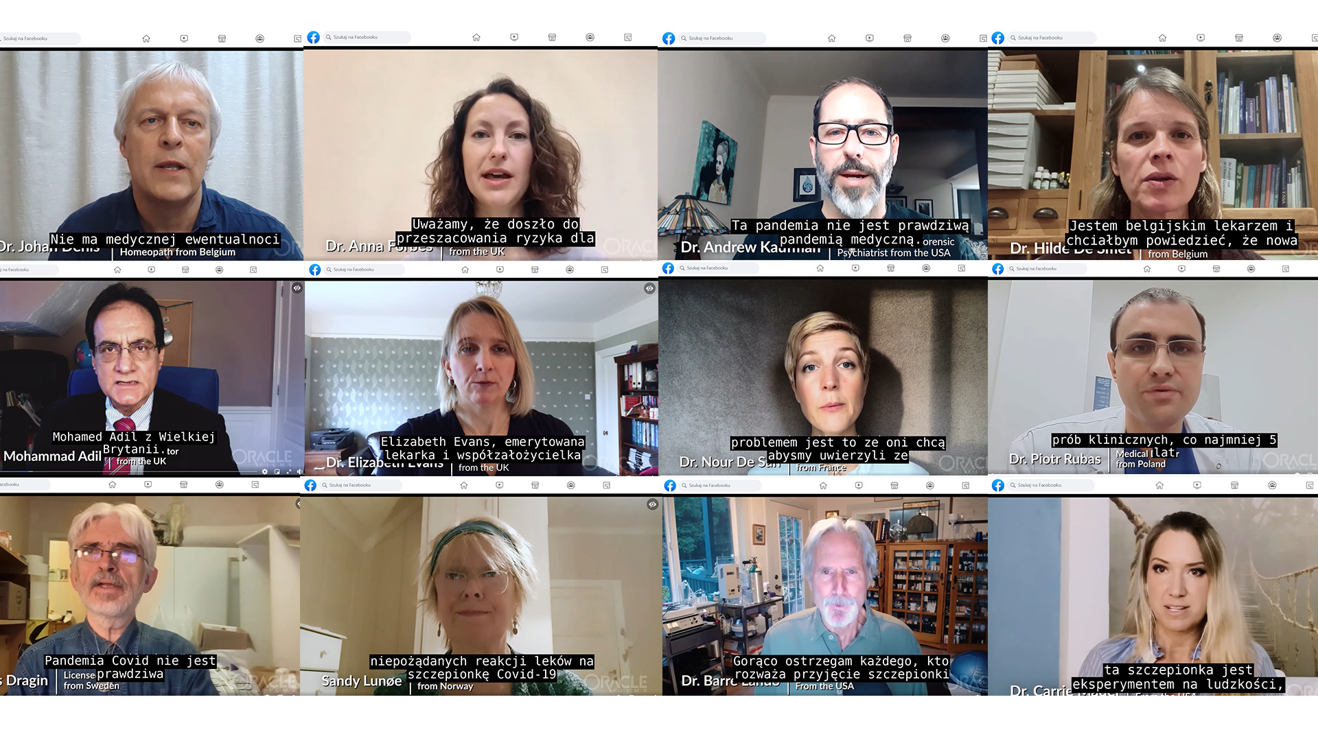 W filmie będącym częścią kampanii World Doctors Alliance swoje opinie prezentują 34 osoby. W większości powtarzają te same fałszywe tezy