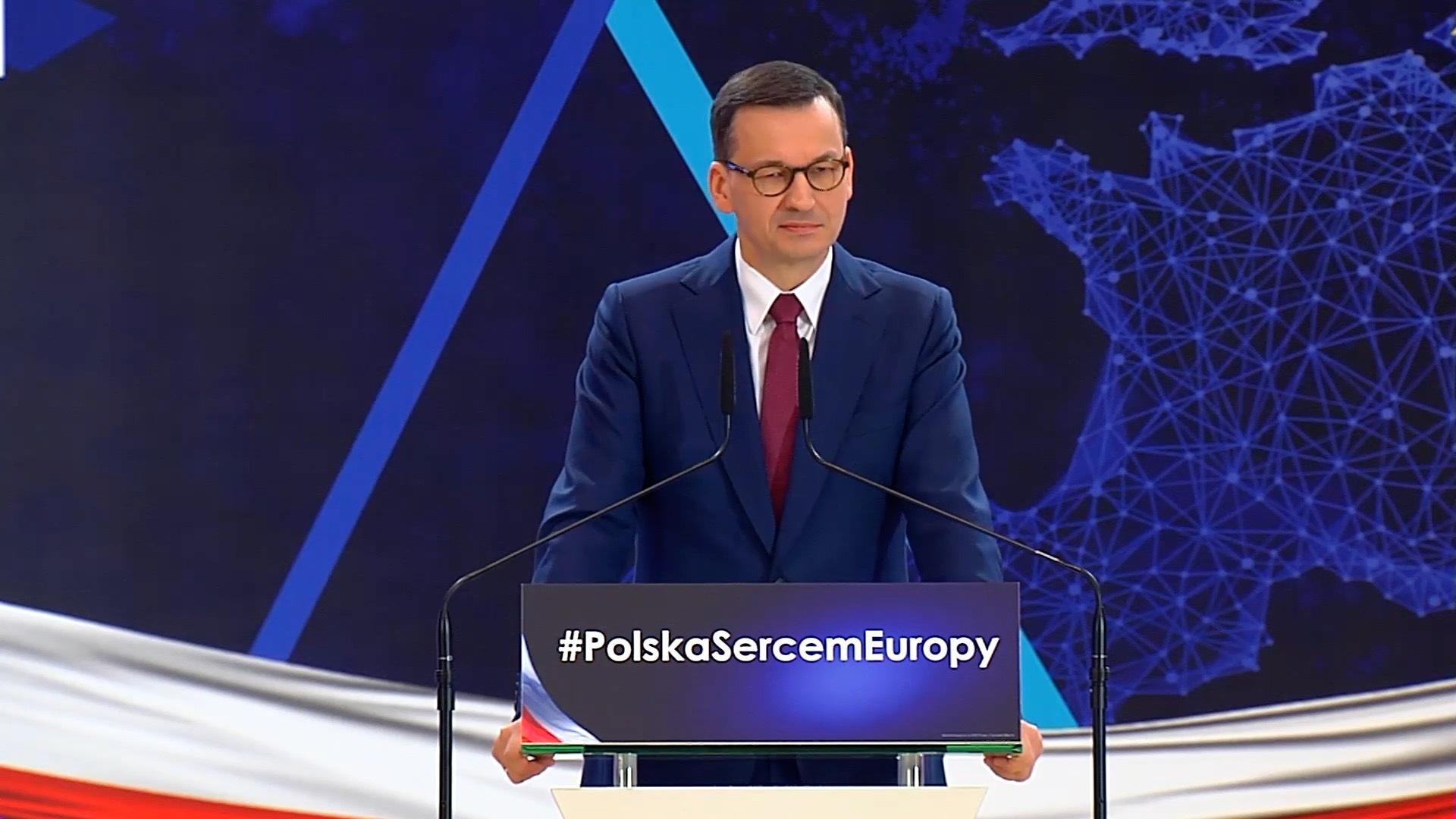 Premier Morawiecki w Katowicach mówił o emisji CO2