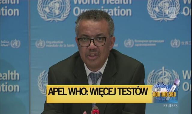 WHO: musimy izolować, testować, leczyć i śledzić