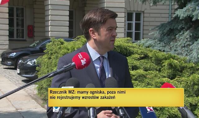 """Rzecznik Ministerstwa Zdrowia Wojciech Andrusiewicz: """"Taka skala zachorowań bezobjawowych nie była do tej pory spotykana"""""""