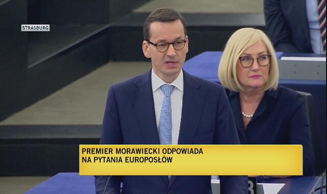 """Mateusz Morawiecki w Parlamencie Europejskim o """"sędziach stanu wojennego"""""""