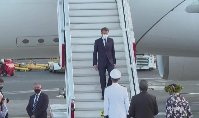 Prezydent Macron z wizytą w Polinezji Francuskiej