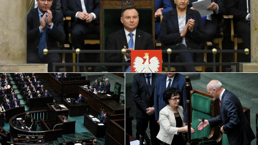 12.11.2019 | Pierwsze posiedzenie Sejmu i pojednawcze słowa Andrzeja Dudy