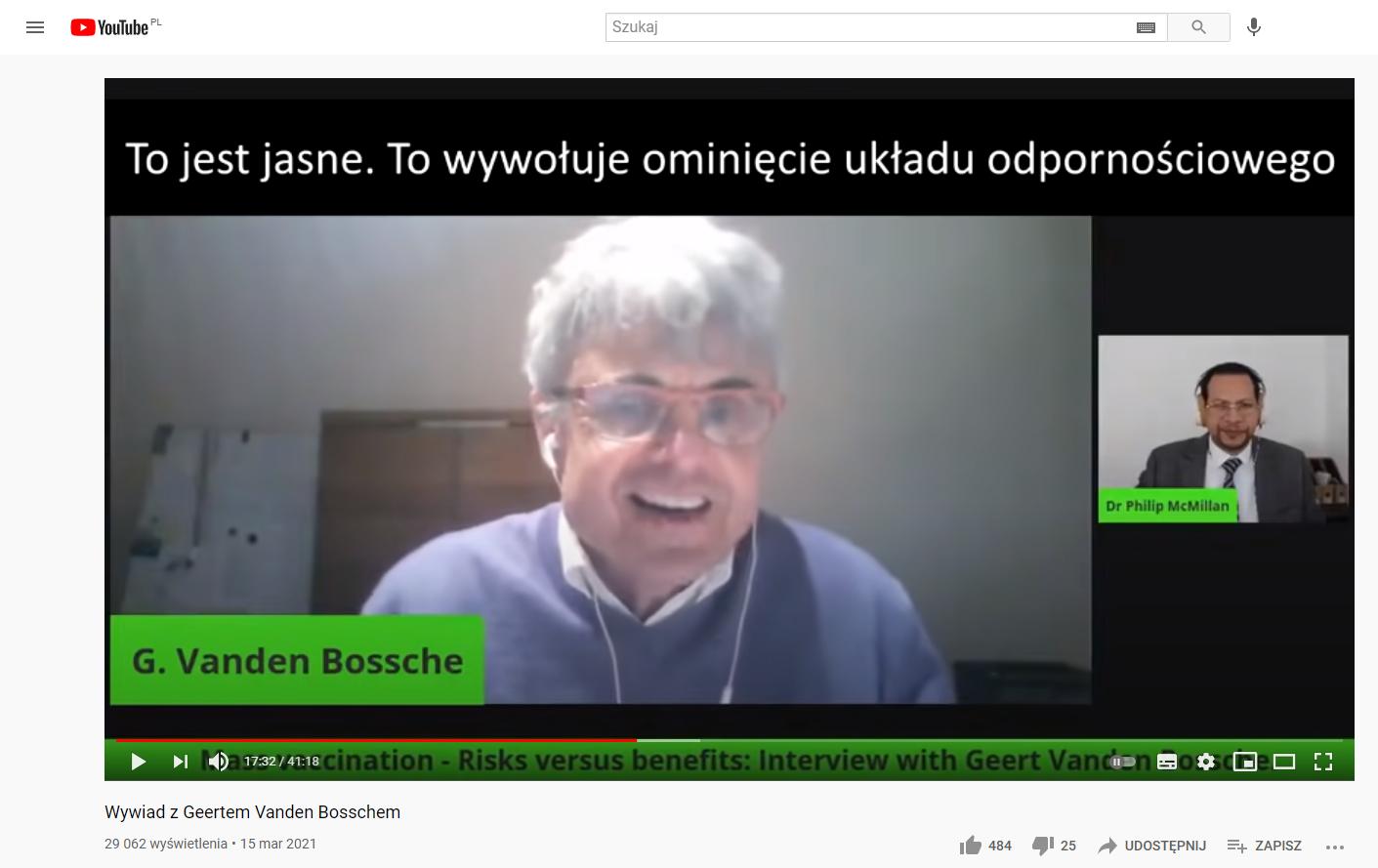 Wywiad z Geertem Vanden Bosschem z polskimi napisami pojawił się w serwisie YouTube 15 marca 2021