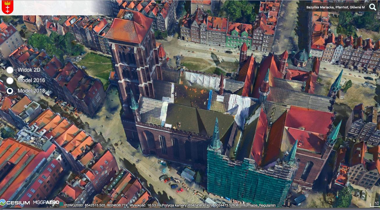 Bazylika Mariacka w Gdańsku w modelu 3D