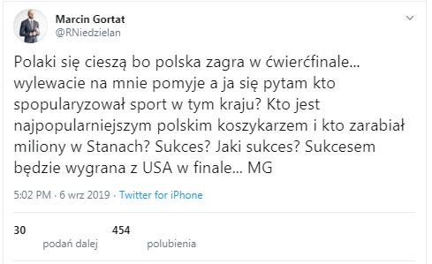 Fałszywy profil Marcina Gortata