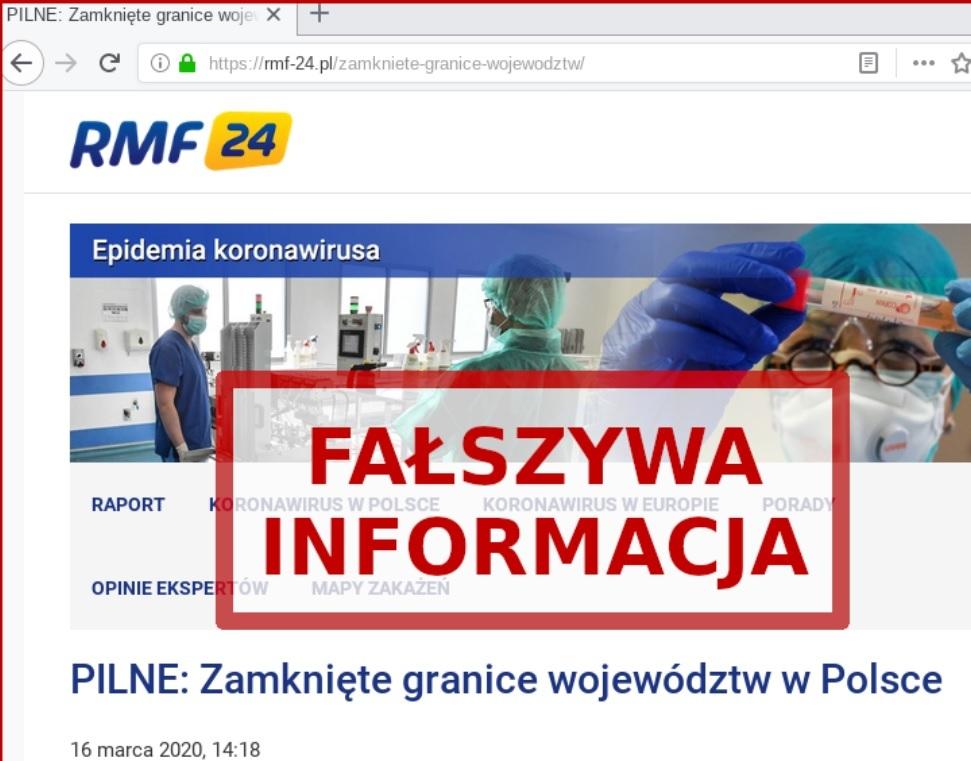 Fałszywa strona RMF24