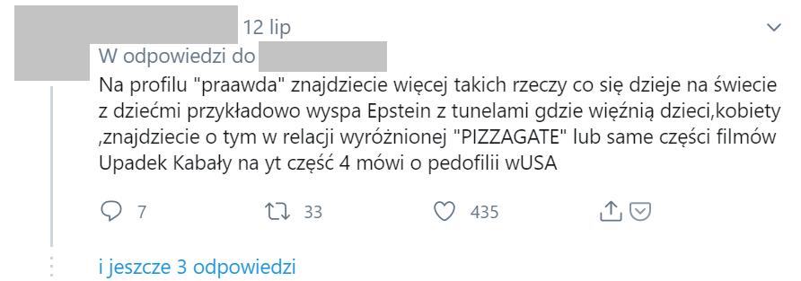 Komentarz nawiązujący do sprawy Pizzagate