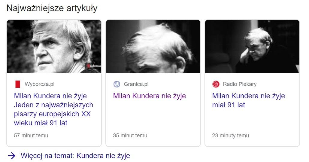 Redakcje niektórych polskich mediów nie zweryfikowały informacji o śmierci pisarza, rozprzestrzeniając fake newsa dalej