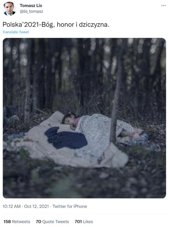 Zdjęcie śpiącej w lesie dziewczynki znów jest popularne w sieci