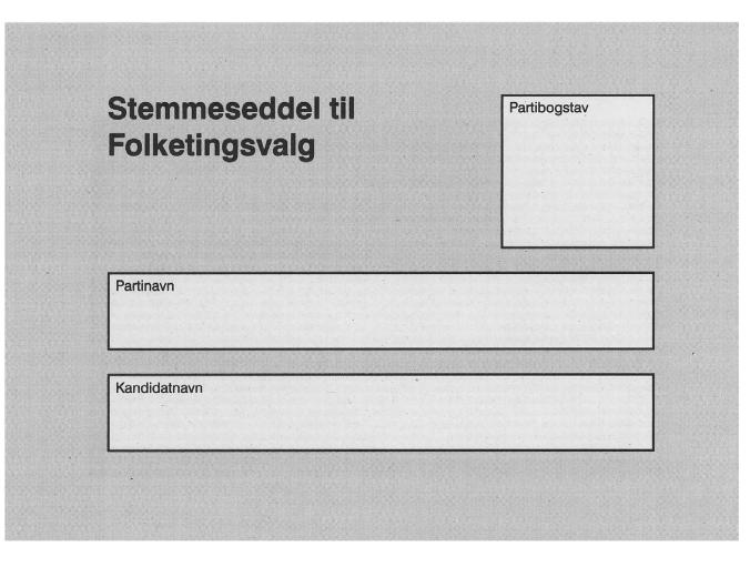 Karta do głosowania korespondencyjnego w Danii