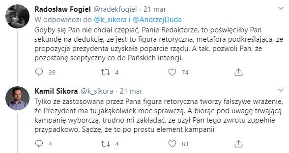Radosław Fogiel tłumaczy swój wpis