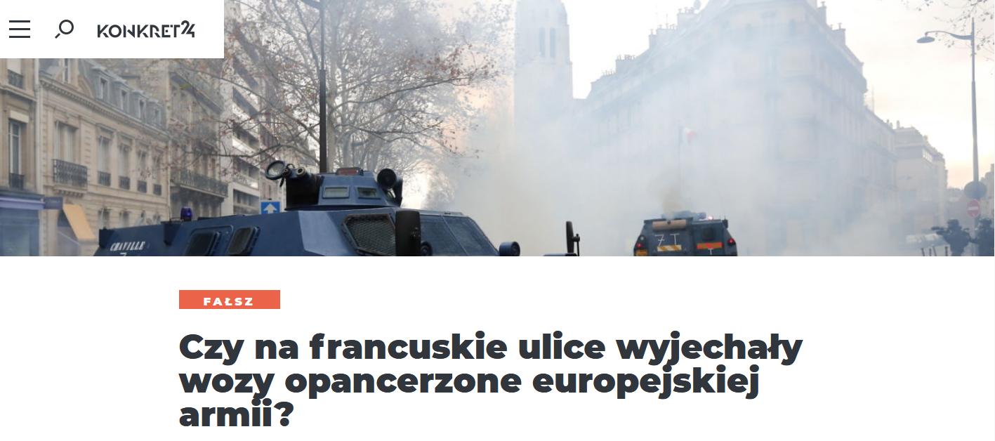 O jednym z przeinaczeń wokół paryskich protestów pisaliśmy już wcześniej