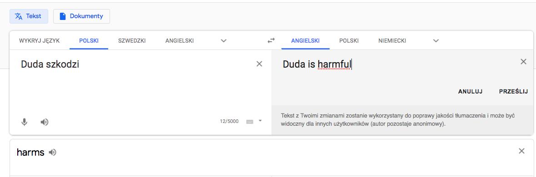 Użytkownicy mają możliwość proponowania zmian tłumaczeń