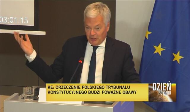 Komisarz UE Didier Reynders komentuje orzeczenie w sprawie wyższości konstytucji nad prawem unijnym