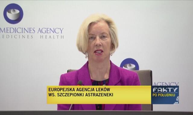 EMA: korzyści wynikające ze szczepionki AstraZeneca znacznie przewyższają ryzyko wystąpienia działań niepożądanych