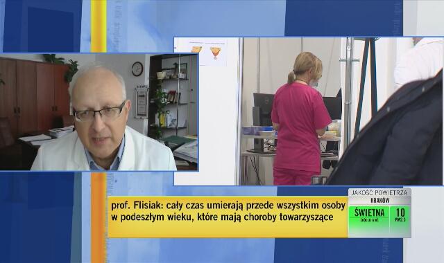 Profesor Flisiak: boję się, że kiedy spadnie liczba zachorowań, spadnie zainteresowanie szczepieniami