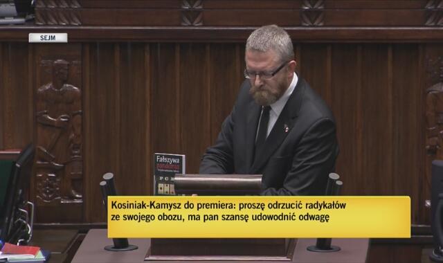 Grzegorz Braun został wykluczony z posiedzenia Sejmu