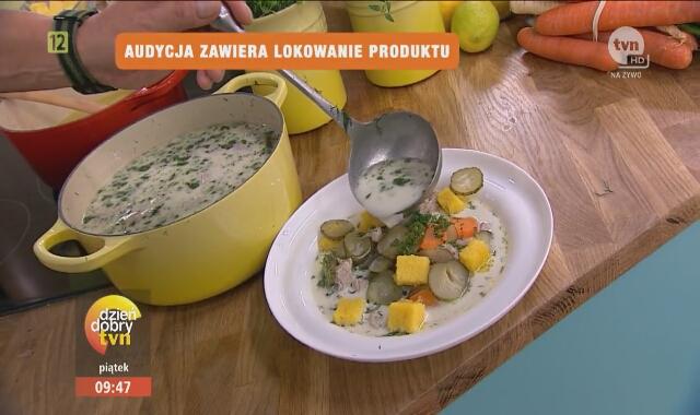 Zupa Ogorkowa Z Ziemniakami Ryzem Na Rosole Dzien Dobry Tvn