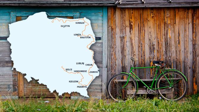 Jednośladem przez wschodnią Polskę. <br />Powstanie trasa licząca ponad 2 tys. km